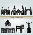 lima landmarks vector image vector image
