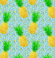 low poly pineapple pattern on ice vector image vector image