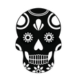 Mexican skull icon simple style vector image vector image