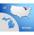 Michigan vector image vector image