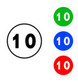 number 10 icon vector image