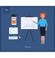 Online education and training vector image vector image