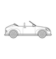 Outline cabriolet roadster car body style icon