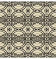 Pattern with thin black lines in art deco style vector image vector image