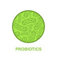 probiotics abstract background vector image vector image