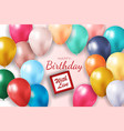realistic 3d balloon background for party holiday vector image vector image