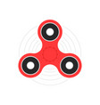 red hand spinner or fidget toy vector image