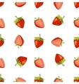 Red strawberries seamless pattern vector image vector image