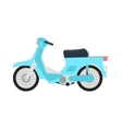 Retro motorbike isolated vector image vector image