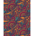 Seamless colorful pattern with hand drawn birds vector image