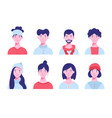 set icon avatars for social network and web vector image