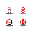 set number eight logo logo 8 template vector image vector image