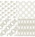 Set of seamless geometric pattern vector image