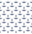 ship anchor seamless pattern vector image vector image