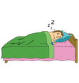 Sleeping man cartoon vector image