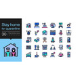 stay home icons stay at home for quarantine vector image
