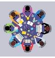 Teamwork people top view vector image