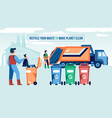 waste recycling horizontal composition vector image