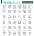 web development thin line web icons set seo vector image vector image