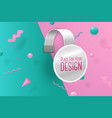 wobbler abstract scene with text and border vector image