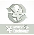 Yen symbol in grey vector image vector image