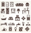 big set of furniture and home related silhouettes vector image