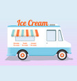 colorful ice cream truck vector image