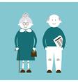 Elderly people vector image