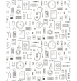 Outlined Medical Symbols and Icons Seamless vector image