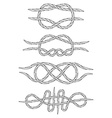 Knots Doodle Isolated Linear design