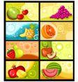 fruit card set vector image