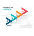 abstract colorful arrow business infographics vector image vector image