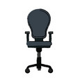 armchair office equipment seat furniture vector image vector image