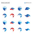 best eagle head logo collection set vector image vector image