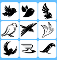 birds icons set vector image vector image