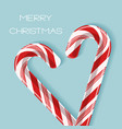 bright poster with candy cane heart vector image