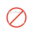 browser window in prohibition sign browser banned vector image vector image