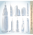 Building Icons Set of Modern Skyscrapers vector image