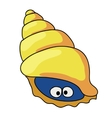 cartoon shell colored vector image vector image