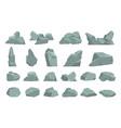 cartoon stones heavy gray boulder rough solid vector image
