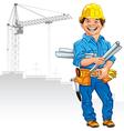 cheerful engineer builder vector image
