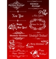 Christmas and New Year decorative elements vector image vector image