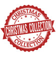 christmas collection grunge rubber stamp vector image