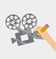 cinema film vector image