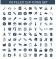 clip icons vector image vector image