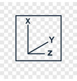 coordinates concept linear icon isolated on vector image vector image