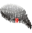 Couple protrude of group vector image vector image