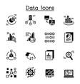 data graph diagram chart icon set graphic design vector image