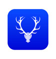 deer antler icon digital blue vector image vector image