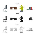 design of furniture and work sign set of vector image vector image